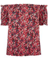 Oasis Floral Print Bardot Top