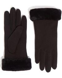 Oasis Faux Fur Trim Gloves - Black