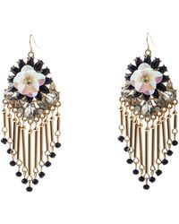 Oasis - Floral Jangle Earrings - Lyst