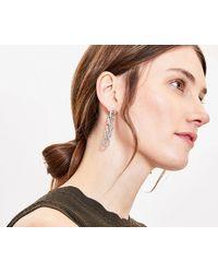 Oasis Chunky Chain Earrings - Metallic