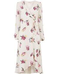 Oasis Flute Sleeve Midi Dress