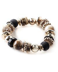 Oasis Multi Bead Bracelet - Metallic