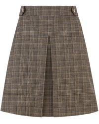 Oasis Chocolate Box Check Skirt - Multicolour
