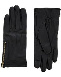 Oasis - Leather Side Zip Glove - Lyst