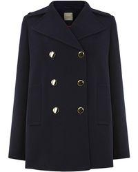 Oasis Double Crepe Pea Coat