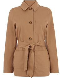 Oasis - Belted Utility Jacket - Lyst