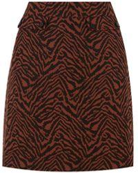 Oasis Jacquard Zebra Mini Skirt - Multicolour