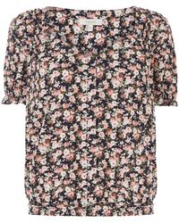 Oasis Brooke Ditsy Floral Top - Multicolour