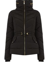 Oasis - Luxe Short Padded Jacket - Lyst
