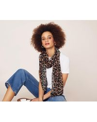 Oasis - Sable Leopard Print Scarf - Lyst