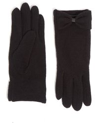 Oasis Bow Knitted Gloves - Black