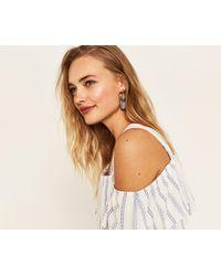 Oasis - Stripe Orb Earrings - Lyst