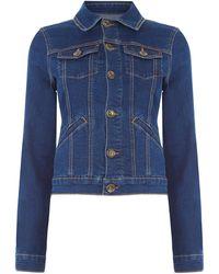 Oasis - Dark Wash Denim Jacket - Lyst