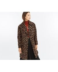 Oasis - Animal Print Coat - Lyst