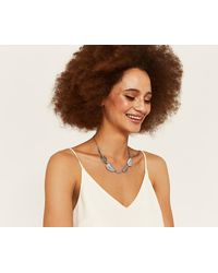 Oasis - Delicate Leaf Necklace - Lyst