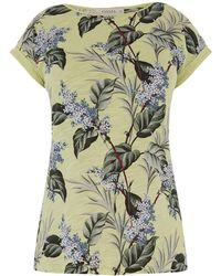 Oasis Lilac Flower Slub Tee - Green