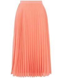 Oasis Pleated Skirt - Orange