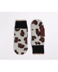 Oasis Supersoft Leopard Mittens - Multicolor