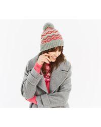 Oasis - Sybil Fairisle Beanie Hat - Lyst