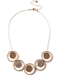 Oasis - Crystal Disc Necklace - Lyst