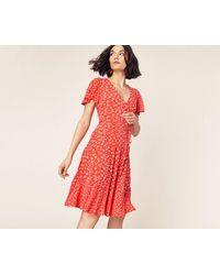 Oasis Karlie Skater Dress - Orange