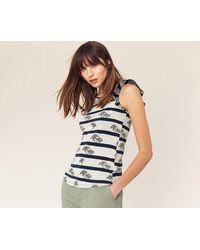 b7e89503dbdf Oasis Provence Ditsy Top in Blue - Lyst