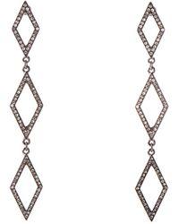 Oasis - Crystal Diamond Earrings - Lyst