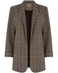 Oasis - Checked Blazer - Lyst