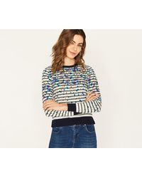 Oasis   Painted Meadow Stripe Knit   Lyst