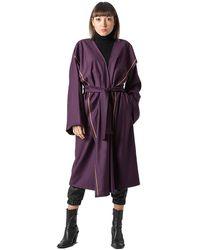 ZEROBARRACENTO Clarice Coat - Purple