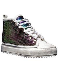Luca Berioli Iron High Iridescent Sneakers - Multicolor