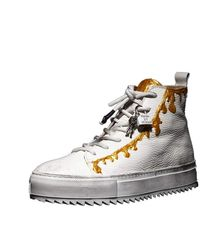 Luca Berioli Vs Slime Gold Sneakers - Metallic
