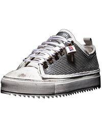 Luca Berioli Iron Mid Silver Sneakers - Metallic