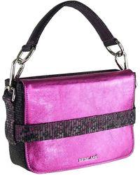 Beblasè Blink Bag Band Metallic Fuchsia & Grey - Pink