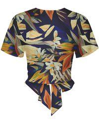Ochie Abaco Top Linen - Multicolor