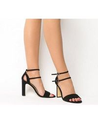 Office Hypnotize Heel With Ankle Strap - Black