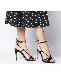 Office Hot Totty Multi Strap Ankle Tie Sandal - Black