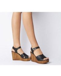 Office Mirage Moc Wood Square Toe Wedge