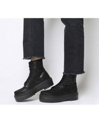 Office Atomize- Heavy Sole Lace Up Boot - Black