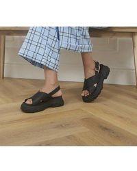 Office Sweet Pea Sporty Cross Strap Sandals - Black