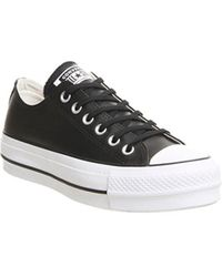 Converse - All Star Lift Low Leather - Lyst