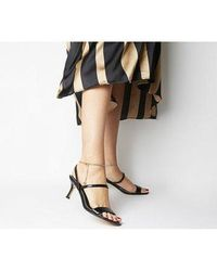Office Merry-go-round- Strappy Sandal With Ankle Chain - Black