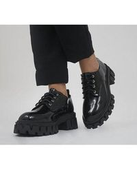 Office Morena Chunky Lace Up Shoes - Black