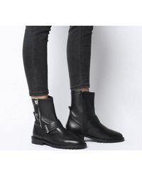 Office Armstrong- Side Zip Biker Boot - Black
