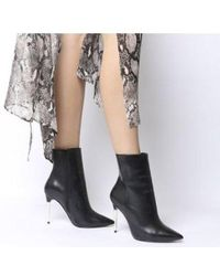 Office - Aspire Metal Heel Point Boot - Lyst