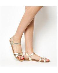 Office - Safari Cross Strap Footbed Sandal - Lyst