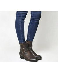 H by Hudson Riley Zip Ankle Boot - Brown