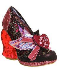 Irregular Choice True Love Heart Heels - Red