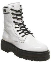 Tommy Hilfiger Platform Leather Flatform Boot - White