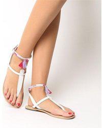 Office - Salsa Tassel- Ankle Strap Toe Post - Lyst